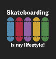 skateboarding t shirt graphic urban skating vector image