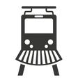 train rail silhouette icon vector image