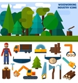 Woodworking Industry Icons vector image