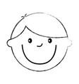 young boy drawing avatar character vector image