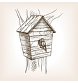 Nesting box sketch style vector image
