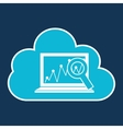 cloud code developing laptop analytics vector image