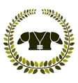 arch of leaves with american football chest vector image