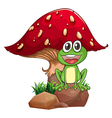 A frog and a mushroom vector image