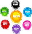 new buttons vector image vector image