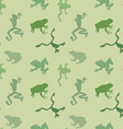 Seamless pattern of green frog vector image