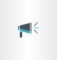 flat megaphone icon vector image
