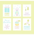 Set of 6 Christmas cards vector image vector image