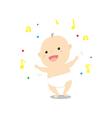 Baby dancing vector image