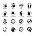 Black Diets Pictogram Set vector image