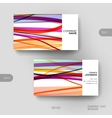 Business card template with abstract vector image