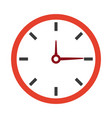 clock time watch hour date minute vector image