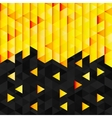 Geometric pattern from yellow orange triangle vector image