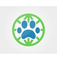 logo design element Paw animal globe vector image