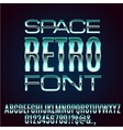 Retro Future Font vector image