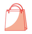shadow shopping bag cartoon vector image