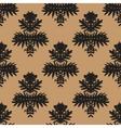 Simple elegant block printed pattern vector image