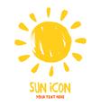 Sun burst logo icon vector image
