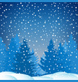 winter snowy night vector image
