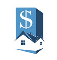 sale and rental housing symbol vector image vector image
