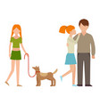 people happy family cartoon relationship vector image
