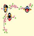 cartoon birds in spring vector image vector image