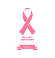 Breast Cancer Awareness cards design vector image