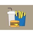 Colorful fastfood icons vector image