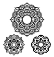 Indian Henna tattoo round design - Mehndi pattern vector image