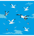 Sea gulls seamless vector image