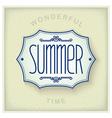 Summer vintage plate vector image