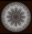 The silver mandala vector image