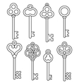 vintage skeleton keys vector image