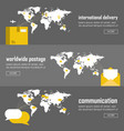 web infographic template set vector image