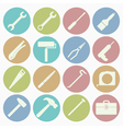 white icons tool vector image