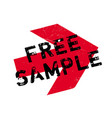 free sample rubber stamp vector image