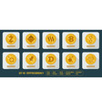 Set of different icons cryptocurrency vector image