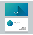 business card letter J vector image vector image