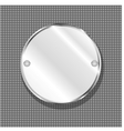 round metal plate vector image vector image