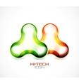 Hi-tech liquid abstract icon vector image vector image