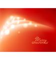Abstract shiny Christmas tree vector image