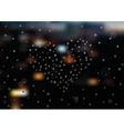Blurred night city landscape vector image
