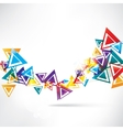 Abstract background with geometric elements vector image