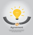 agreement business and handshake vector image