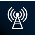 Antenna icon tower radio mast signal antenna vector image