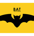 bat design vector image
