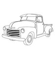 old american pick-up truck - reto pickup car vector image