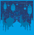 ramadan background - mosque card vector image