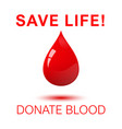 save life - donate blood square concept poster vector image