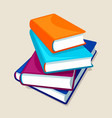 stack of four books for education vector image